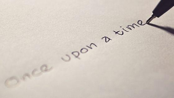 """Schriftzug """"Once upon a time"""""""