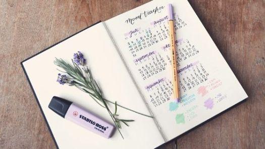 Mood Tracker in einem Bullet Journal